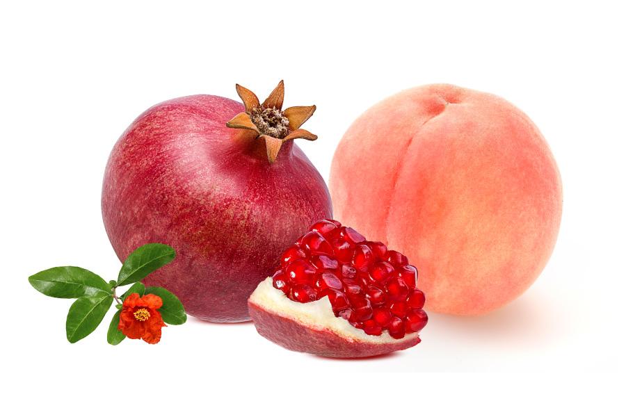 ザクロと桃
